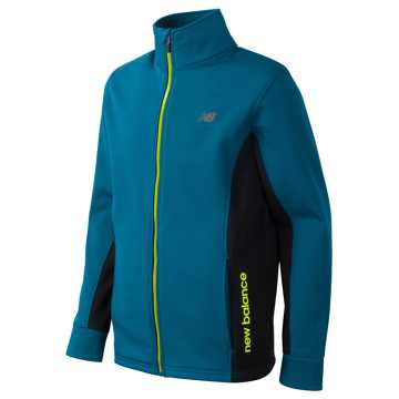 New Balance Full Zip Mock Neck Jacket, Castaway with Black