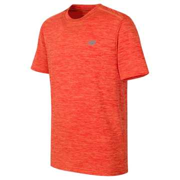 New Balance Short Sleeve Performance Tee, Plasma with Fireball