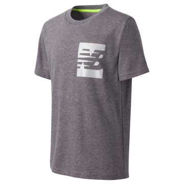New Balance Short Sleeve Graphic Tee, Charcoal Heather
