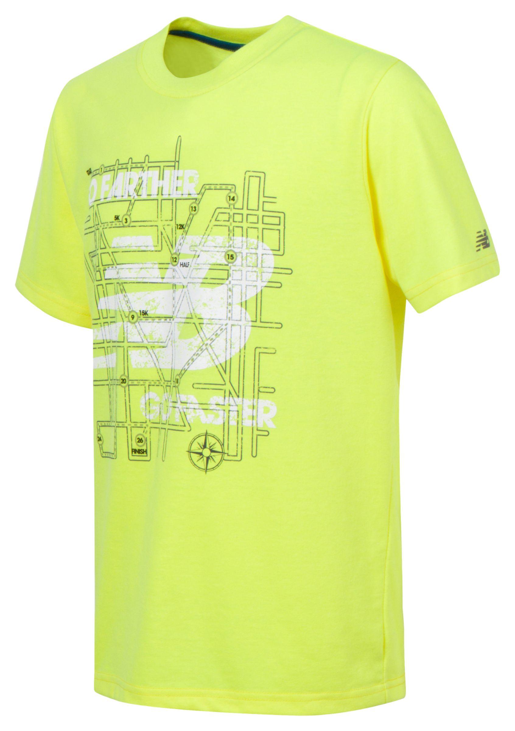 New Balance Boys Short Sleeve Graphic Tee Yellow