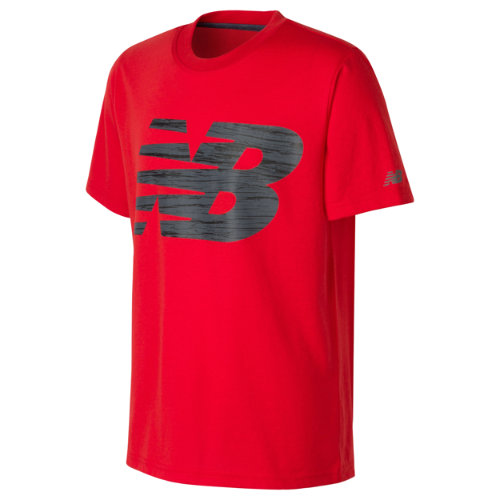 New Balance 12028 Kids' Short Sleeve Graphic Tee - Red (BT12028ATM) 013618120435