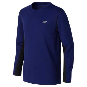 New Balance Long Sleeve Performance Shirt, Basin with Black