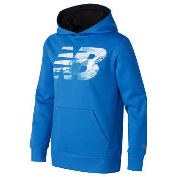 New Balance Graphic Hoodie, Barracuda with Black