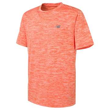 New Balance Short Sleeve Performance Tee, Alpha Orange with Thunder