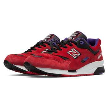 New Balance 1600 Elite Edition Pinball, Red with Black & Purple