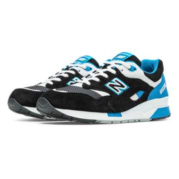 New Balance 1600 Elite Riders Club, Black with Bright Blue & White
