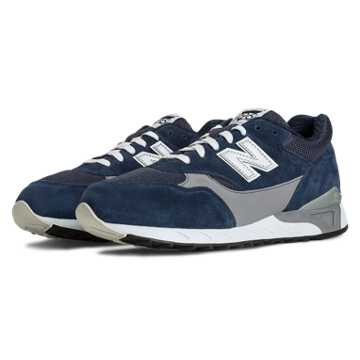 New Balance 496 New Balance, Navy with Grey