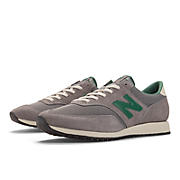 New Balance 620, Grey with Green & Ivory