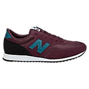 New Balance 620, Burgundy with Teal