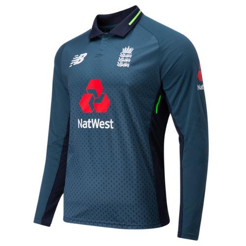 New Balance ECB Replica Long Sleeve Polo Odi Boy's England ODI Cricket Kit - CMT8004NOS