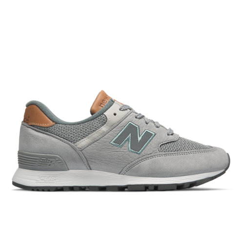 New Balance 576 Made in UK Nubuck Chaussures - Light Grey/Dusty Blue (Taille EU 41 / UK 7.5)