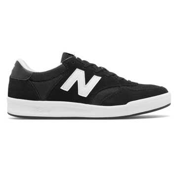 New Balance 300 Suede, Black with White