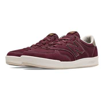 New Balance 300 Leather, Garnet with Tan