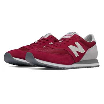 New Balance 620 New Balance, Burgundy with White