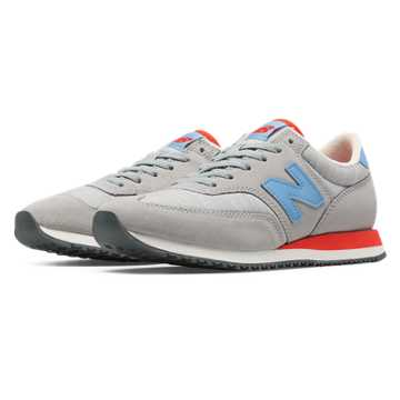 New Balance 620 Lakeview, Light Grey with Light Blue & Flame