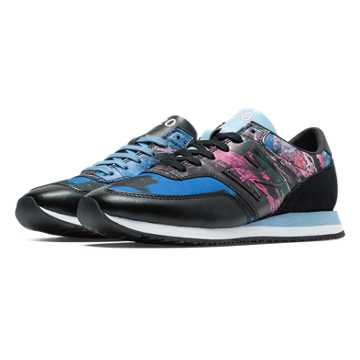 New Balance 620 Tokyo Design Studio, Black with Periwinkle & Pink Glo