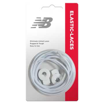 New Balance Elastic Laces, White