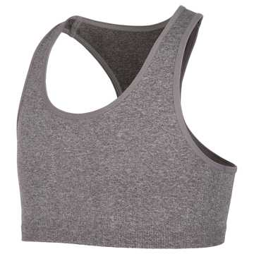 New Balance Seamless Racerback Sports Bra, Grey Heather