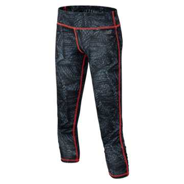 New Balance Performance Tight, Black with Snake Palm