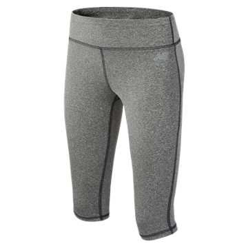 New Balance Performance Capri, Charcoal Heather