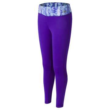 New Balance Fashion Performance Tight, Spectral with White & Aquarius