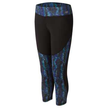 New Balance Fashion Performance Crop, Black with Spectral