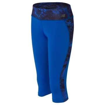 New Balance Fashion Performance Crop, Majestic Blue