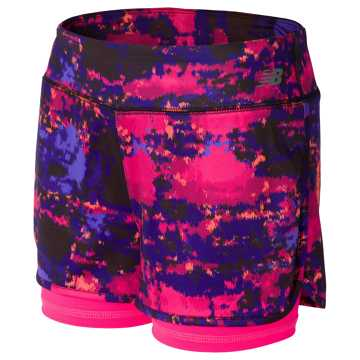 New Balance Layered Bike Short, Alpha Pink