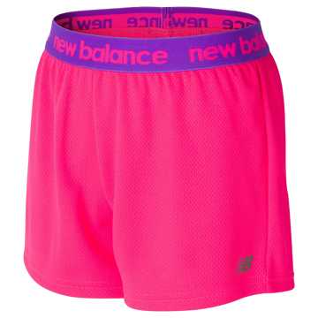 New Balance Core Performance Short, Alpha Pink with Alpha Violet