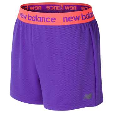 New Balance Core Performance Short, Alpha Violet with Sunrise