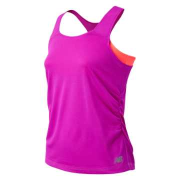 New Balance Fashion Performance Tank, Azalea with Dragonfly