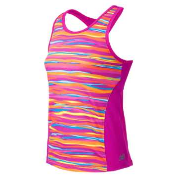 New Balance Fashion Performance Printed Tank, Azalea with Impulse