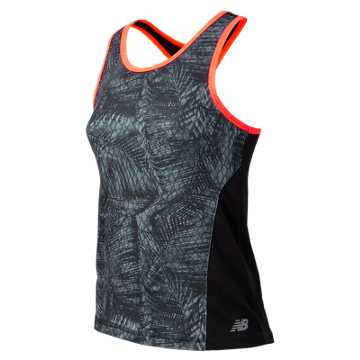 New Balance Fashion Performance Printed Tank, Black with Snake