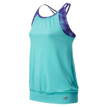New Balance Fashion Performance Tank, Bayside with Jellies