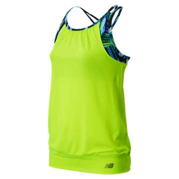 New Balance Fashion Performance Tank, Toxic with Reef