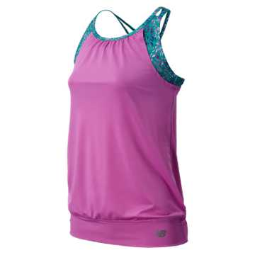 New Balance Fashion Performance Tank, Urchin with Reef