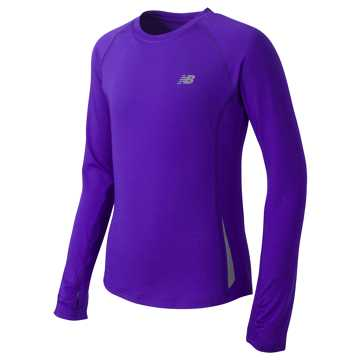 New Balance Long Sleeve Performance Tee, Spectral
