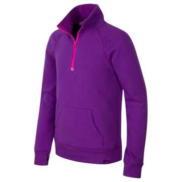 New Balance Quarter Zip Pullover, Peony with Spectral
