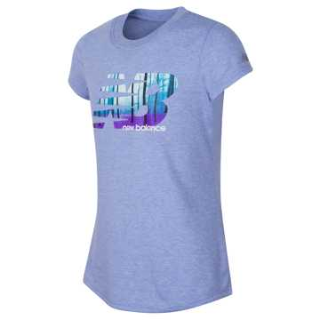 New Balance Short Sleeve Graphic Tee, Gem Heather