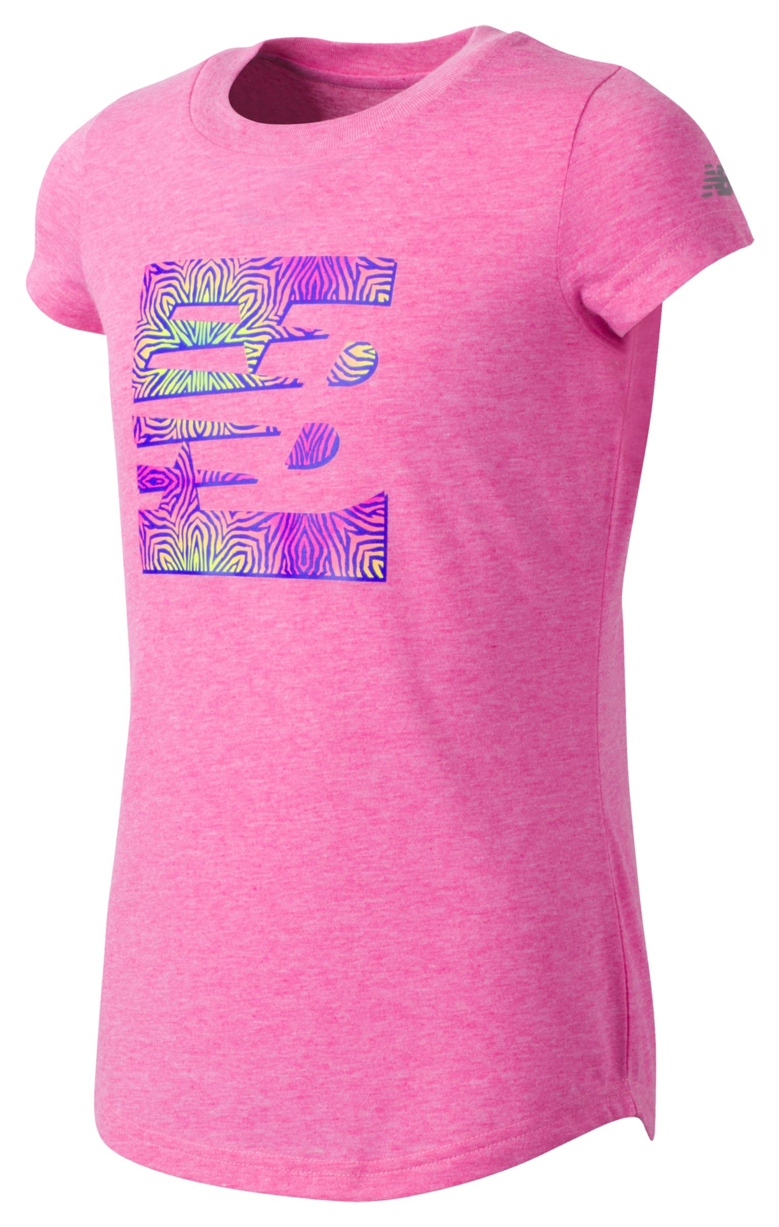 New Balance Girls Short Sleeve Graphic Tee Pink