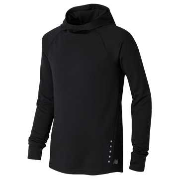 New Balance Hooded LS Performance Tee, Black