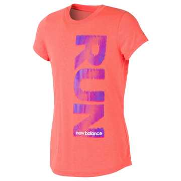 New Balance Short Sleeve Graphic Tee, Sunrise Heather