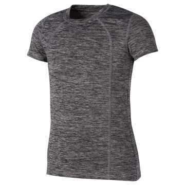 New Balance Short Sleeve Performance Tee, Black with White