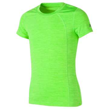 New Balance Short Sleeve Performance Tee, Lime Glo with Vivid Jade