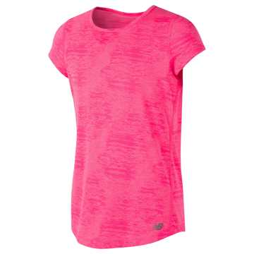 New Balance Short Sleeve Performance Tee, Alpha Pink Heather