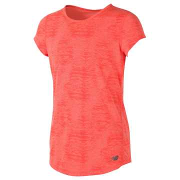 New Balance Short Sleeve Performance Tee, Sunrise Heather