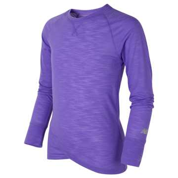 New Balance Long Sleeve Performance Tee, Alpha Violet