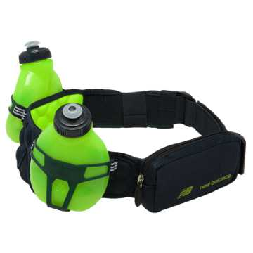 New Balance Helium H20 2 Bottle Hydration Belt, Toxic with Equinox