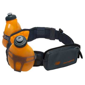New Balance Helium H20 2 Bottle Hydration Belt, Impulse with Harbor Blue