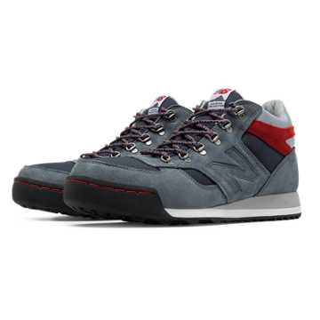 New Balance 710 Outdoor Suede, Lead with Ink Blue & Red